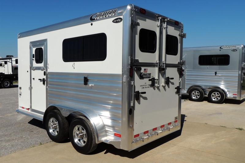 2021 Cimarron 2 Horse Sraightload XL Stalls Horse Trailer