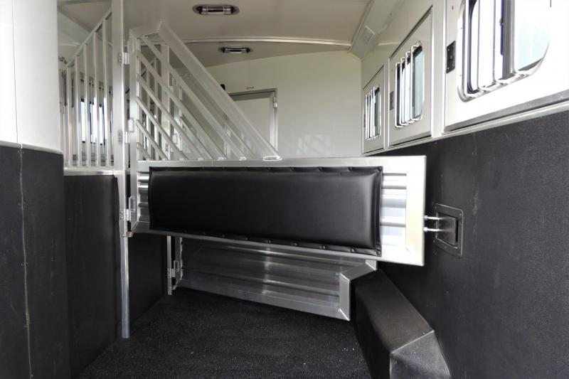 "2021 Cimarron 10'8"" Outback Customs 3 Horse Trailer"