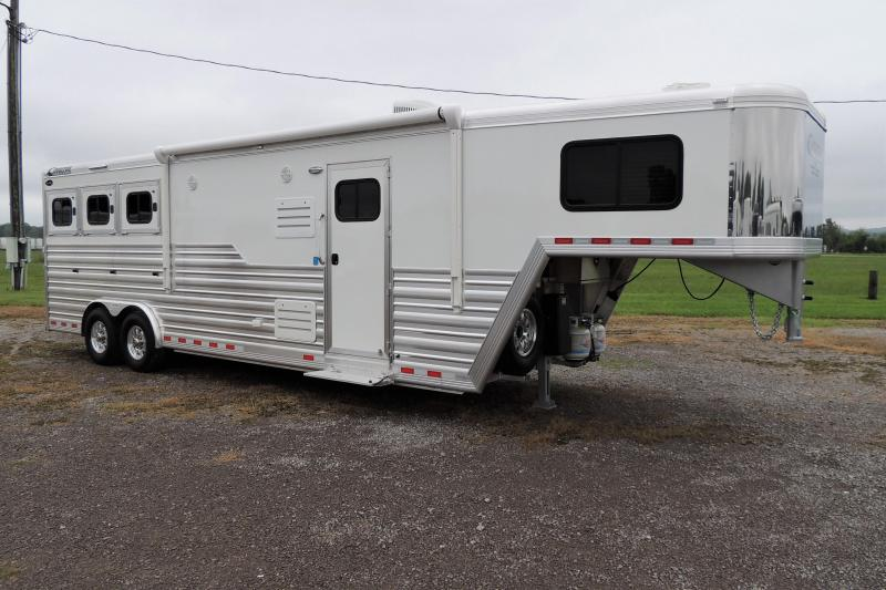 "2022 Cimarron 10'8"" Outback Customs 3 Horse Trailer"