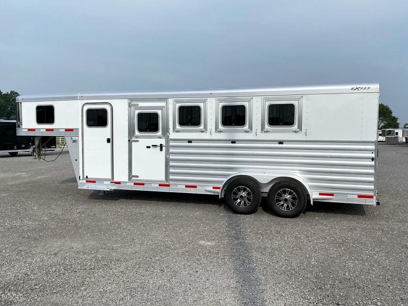 2022 Exiss 7400 Gooseneck Horse Trailer