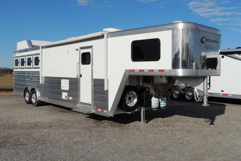 "2020 Cimarron 12 8"" Outback Customs 4 Horse Trailer"