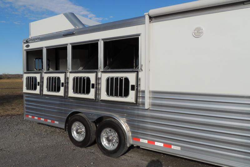 "2020 Cimarron 12 8"" Outback Customs 4 Horse Trailer"
