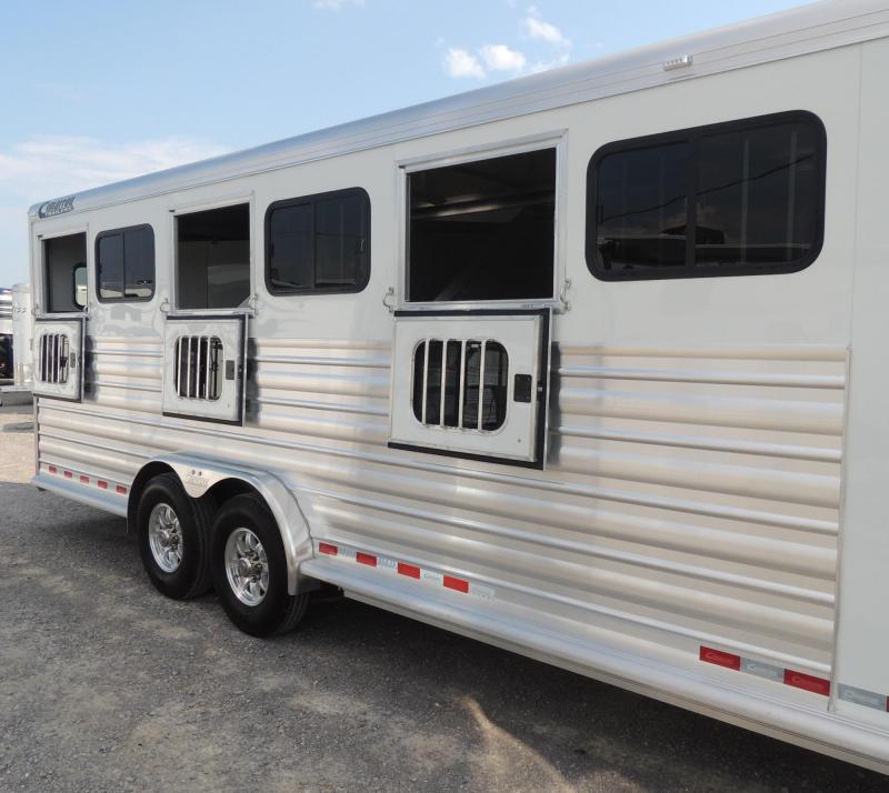 """2020 Cimarron Trailers 6 Horse -- 7'6"""" Wide -- Double Door Tack Horse Trailer"""
