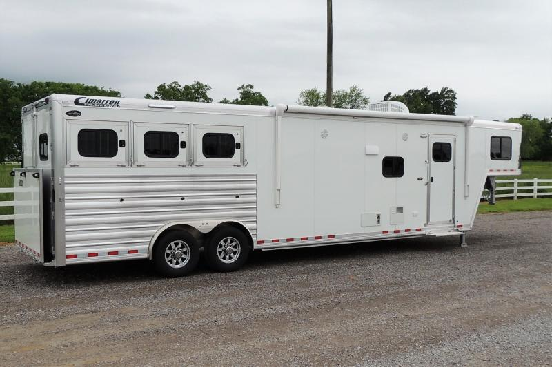 2021 Cimarron 8314 Slide w/ Outback Customs 3 Horse Trailer