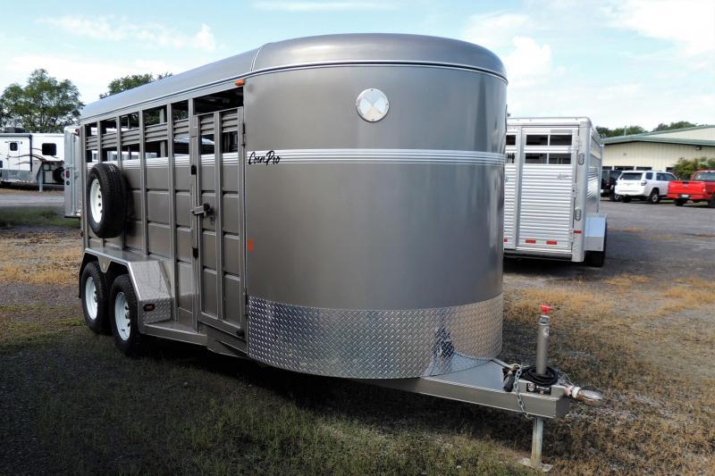 "2017 CornPro 16' X 6'6"" Tall Livestock Trailer"