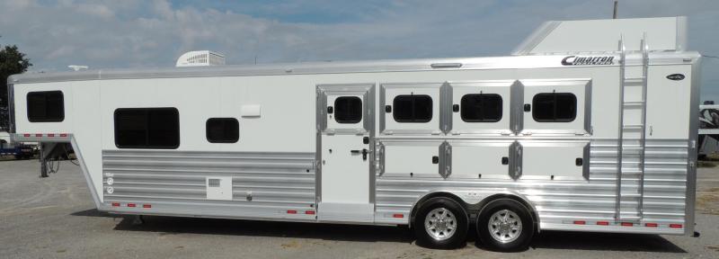 "2020 Cimarron Trailers 12 8"" Outback Customs 4 Horse Trailer"