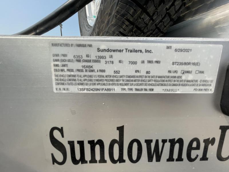 2022 Sundowner 9624MP Utility Trailer