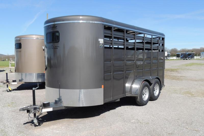 2021 Delta 500 Series 16' X 7' Tall Livestock Trailer