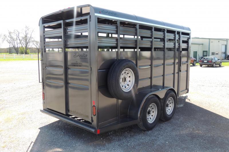 2021 Delta 500 Series 16' X 7' Tall Livestock Trailer