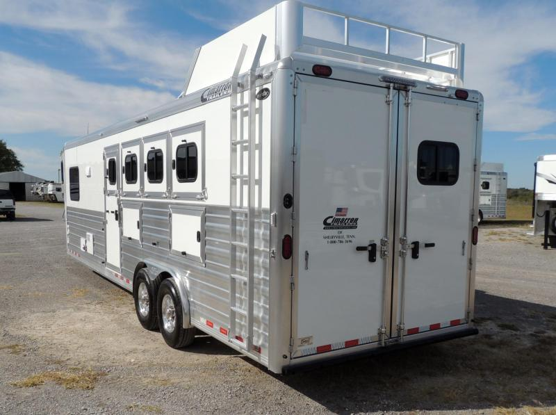 "2020 Cimarron Trailers 10 8"" Outback Customs 4 Horse Trailer"