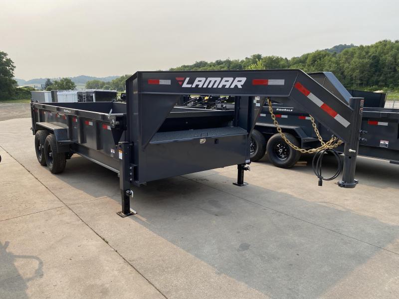 2021 Lamar Trailers 83X16 Gooseneck Dump Trailer