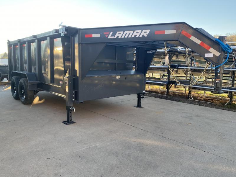 2021 Lamar Trailers 83X14 Gooseneck Dump Trailer