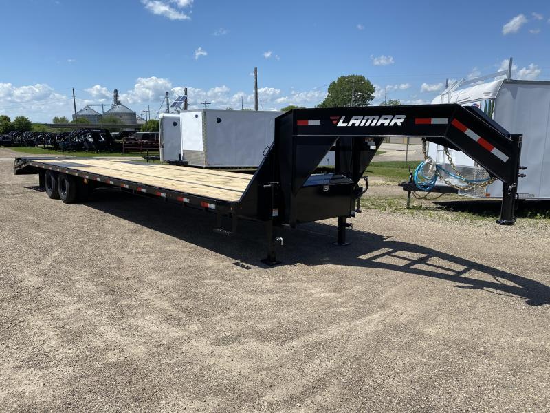 2020 Lamar Trailers 102X36 Gooseneck Deckover Equipment Trailer