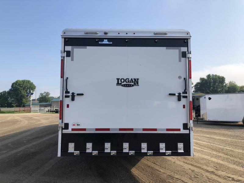 2022 Logan Coach 31' ZBROZ Horsepower Snowmobile Trailer