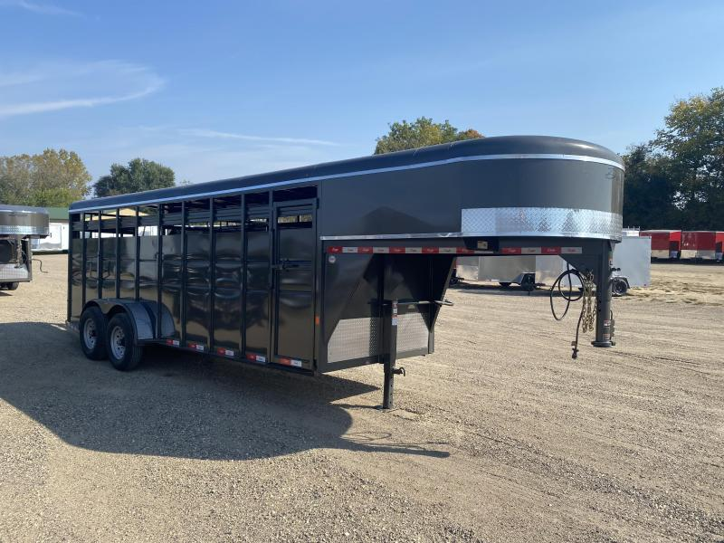 2021 Delta Manufacturing 6X20 Gooseneck Livestock Trailer