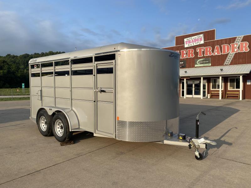 2021 Delta Manufacturing 6X16 Livestock Trailer