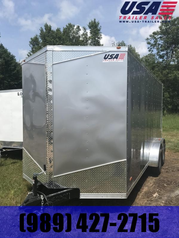 2021 MTI Trailers 7x14 CHARCOAL Ramp Enclosed