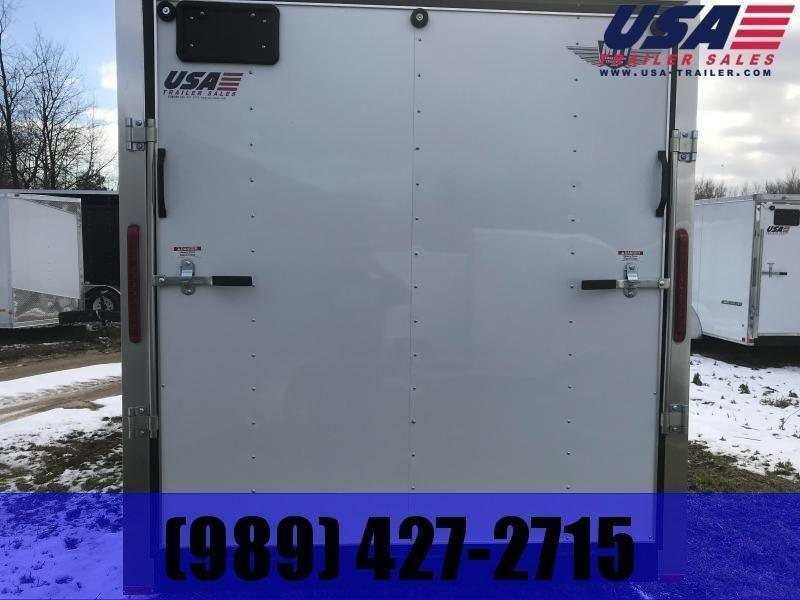 2021 MTI Trailers 7x14 White Ramp Enclosed