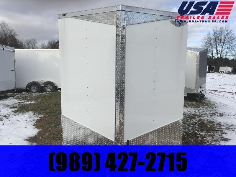 2020 MTI Trailers 7x14 White Ramp Enclosed Cargo Trailer
