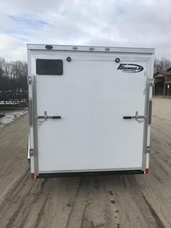 2021 Formula Trailers 6x12 White Ramp Enclosed