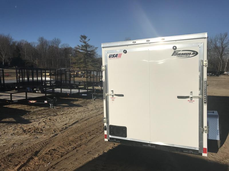 2020 Formula Trailers 6x12 White Ramp Enclosed Cargo Trailer