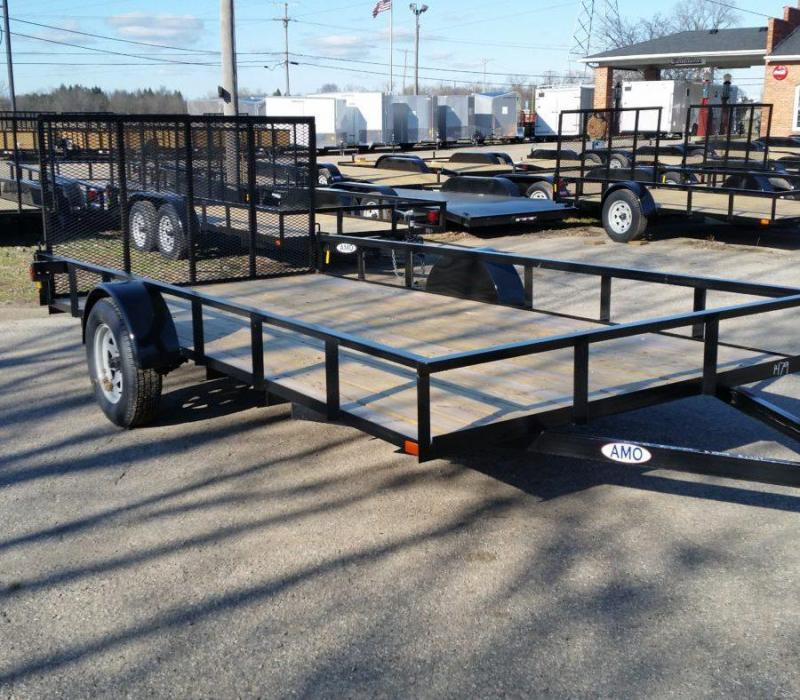 6.4 x 14 A.M.O. Low Side Landscape Trailer