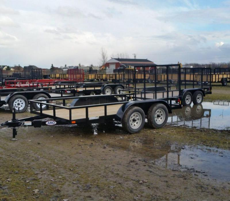 6.4 x 12 A.M.O. Landscape Trailer - 2 Axle Brake
