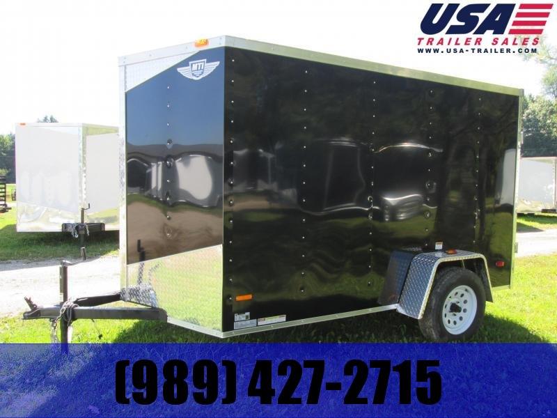 2021 MTI Trailers 6x10 Black Ramp Enclosed Cargo Trailer