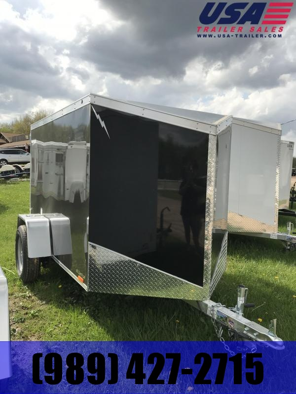 2020 Lightning Trailers 5 x 10 Black ramp