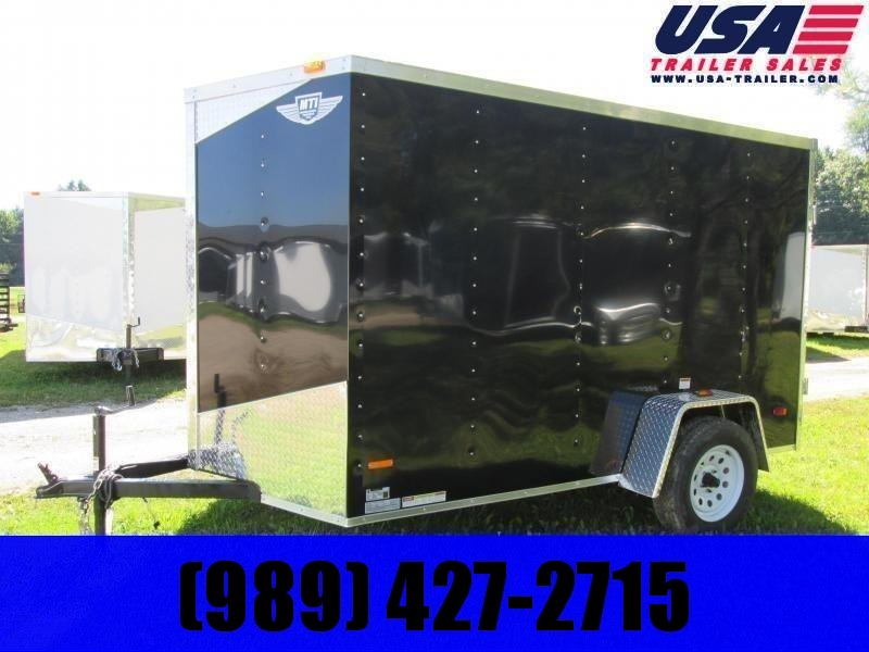 2021 MTI Trailers 6x10 Black BARN DOORS