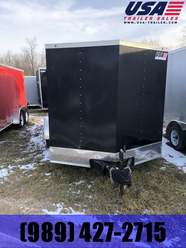 2020 MTI Trailers 7x16 +12 Black ramp Trailer