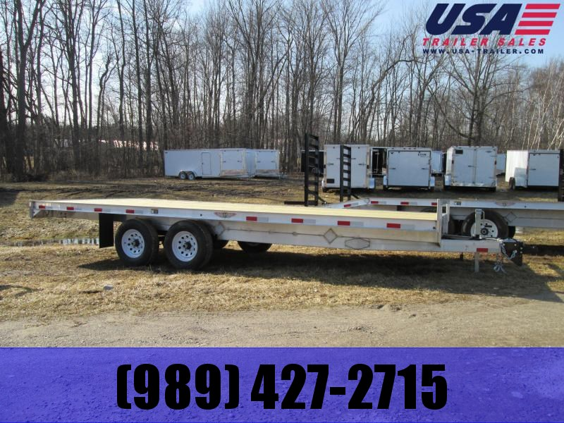 2020 H and H Trailer 20 Straight Deck Flatbed Trailer