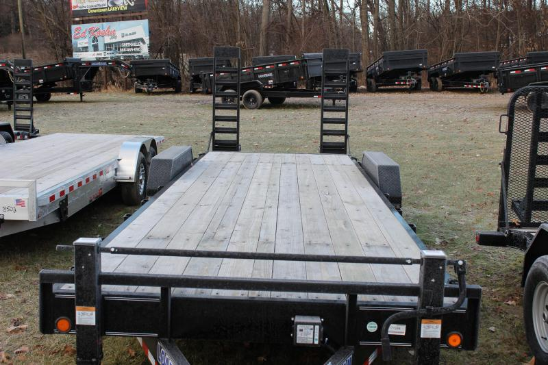 "2021 Load Trail 83"" X 24' skid steer trailer"
