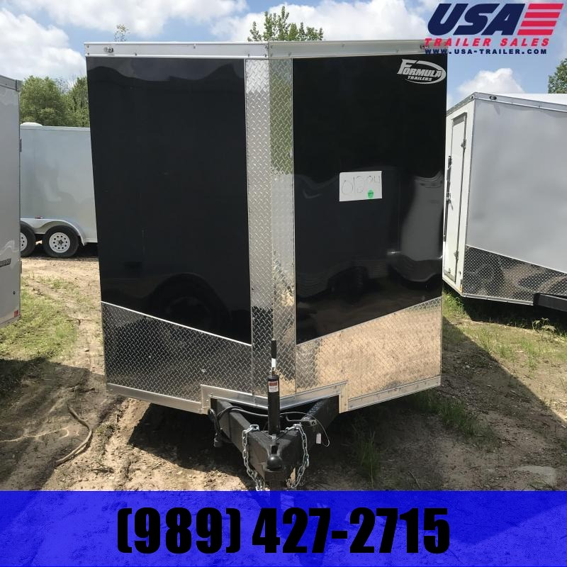 2019 Formula Trailers 6x12 Black Ramp Enclosed Cargo Trailer