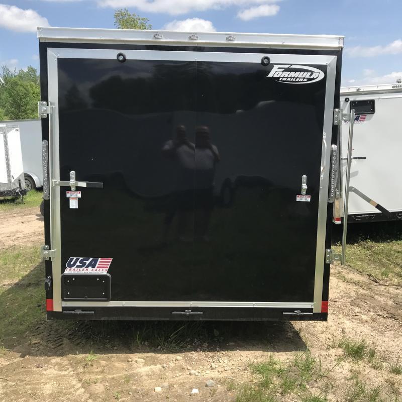 2019 Formula Trailers 6x12 Black Ramp Enclosed Cargo Trailer