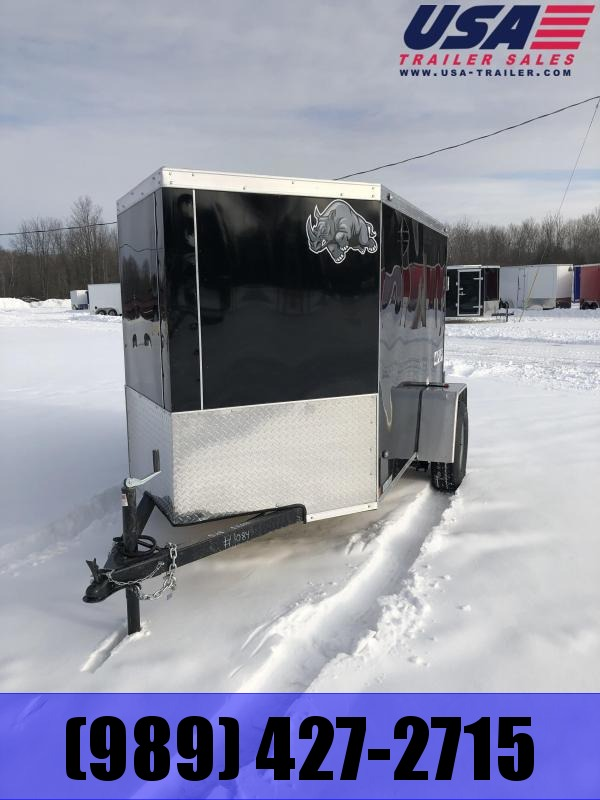 2021 Rhino Trailers SAFARI 6X12 BLACK BARN DOORS