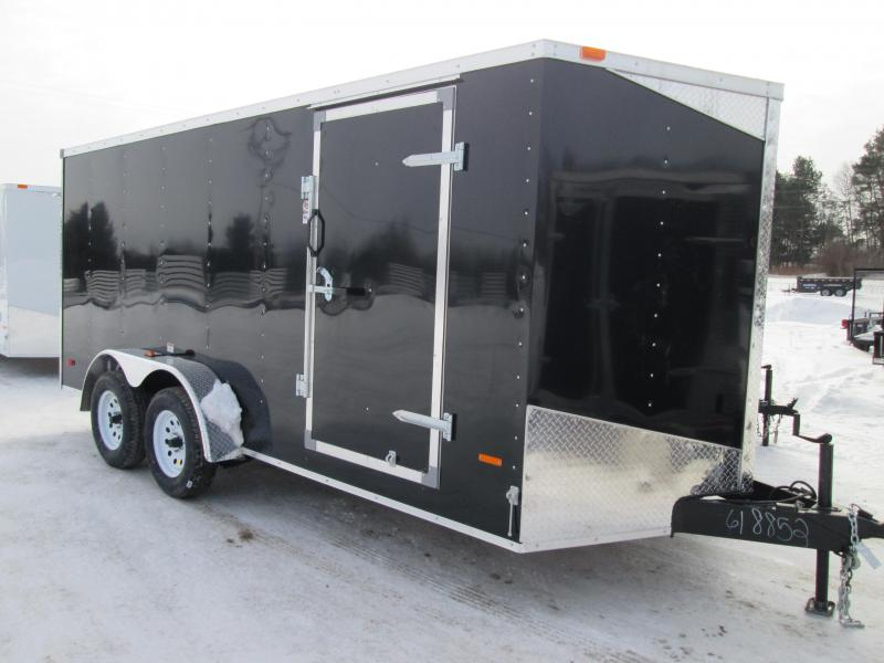 2021 MTI Trailers 7x14 BLACK Ramp Enclosed