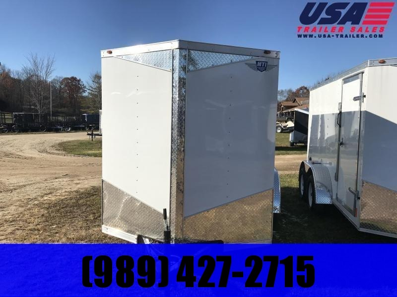 2021 MTI Trailers 6x12 white Enclosed Cargo Trailer