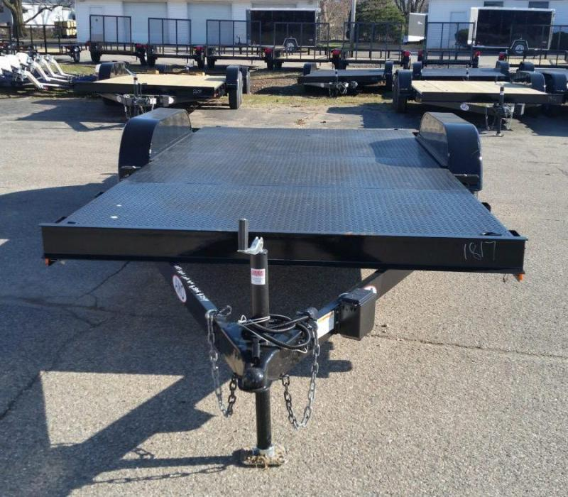 18' A.M.O. Car Hauler Trailer Steel Deck