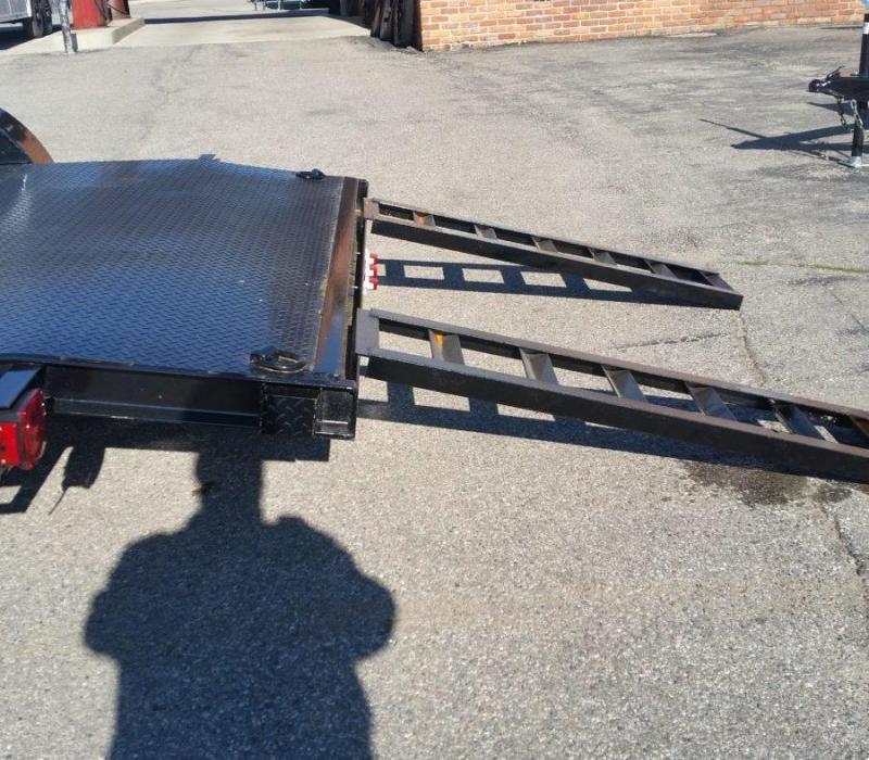 18' A.M.O. Car Hauler Trailer Steel Deck