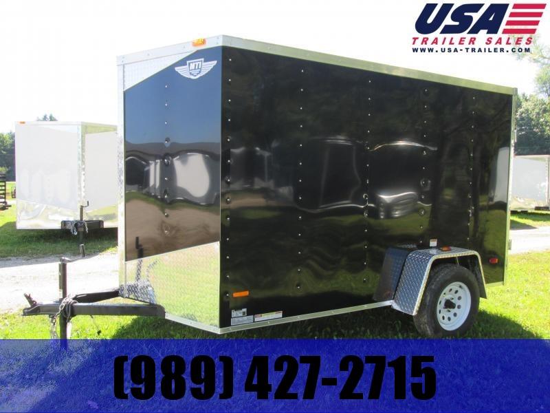 2021 MTI Trailers 5x8 Black Enclosed Cargo Trailer