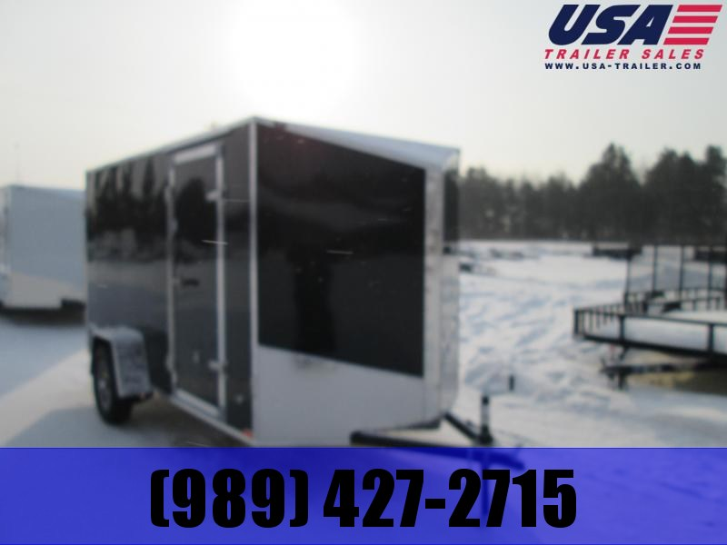 2019 Qualitec 6X10 Black Dbl. Doors Enclosed Cargo Trailer