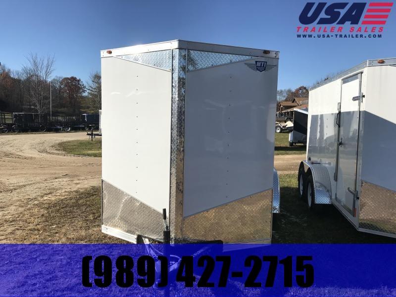 2019 MTI Trailers 7x16 White Barn Enclosed Cargo Trailer