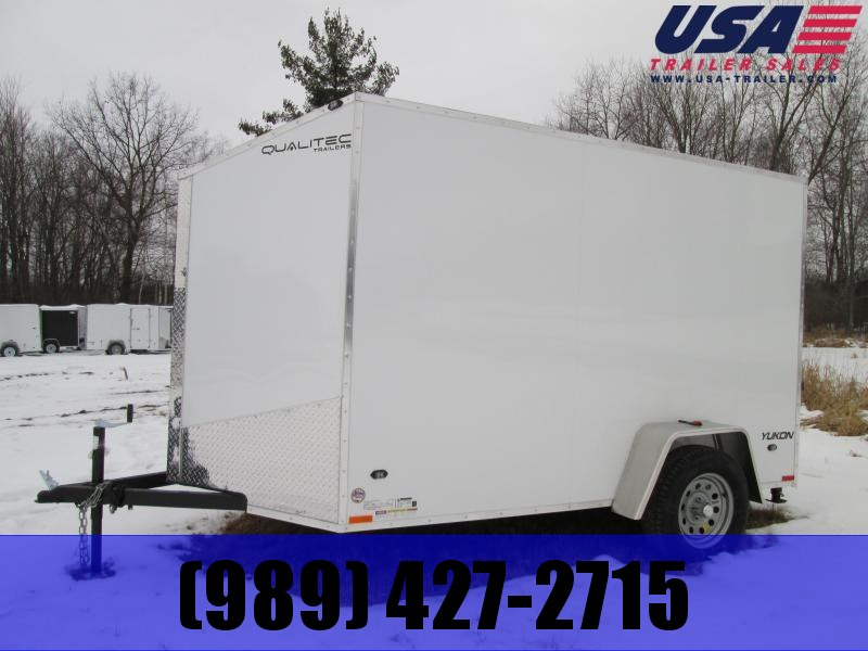 2019 Qualitec 6x12 White Ramp Enclosed Cargo Trailer