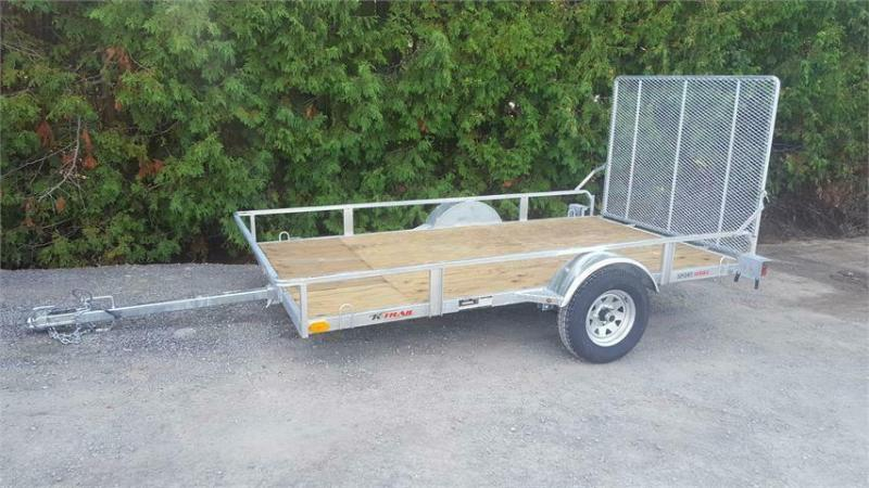 2021 K Trail 6 x 10 Galvanized Side by Side Trailer