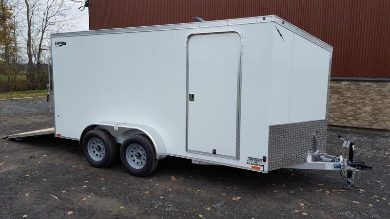 2022 Lightning 7 x 14 TA 7K All Aluminum Enclosed Cargo Trailer
