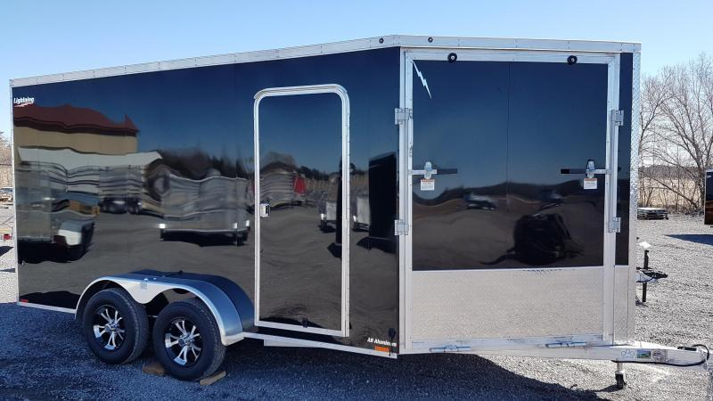 2022 Lightning Trailers 7'x19' Inline Snowmobile Trailer