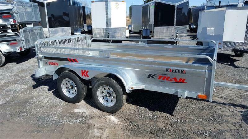 2021 K Trail 5.5 x 10 Tandem Axle Galvanized Trailer