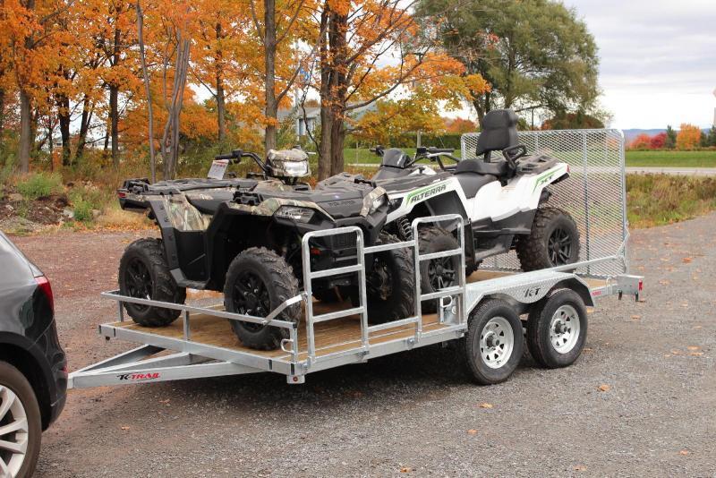 2021 6X12 K Trail Twin Rider ATV Trailer