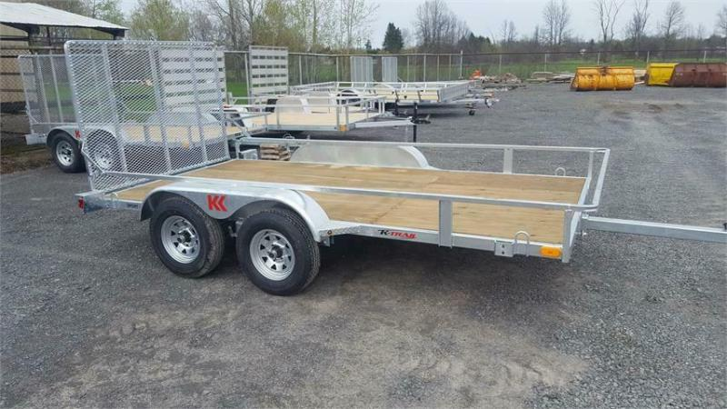 2021 K Trail 6 x 10 Tandem Axle Galvanized Side by Side Trailer
